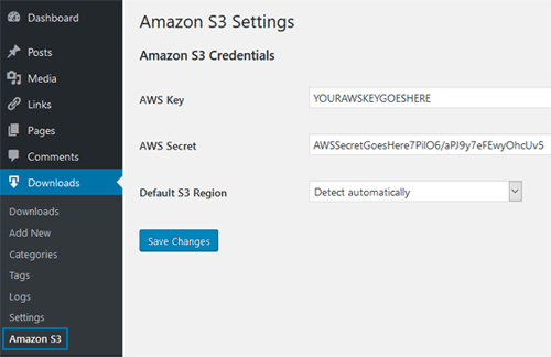 Amazon S3 Integration Addon - Download Monitor & Manager Plugin